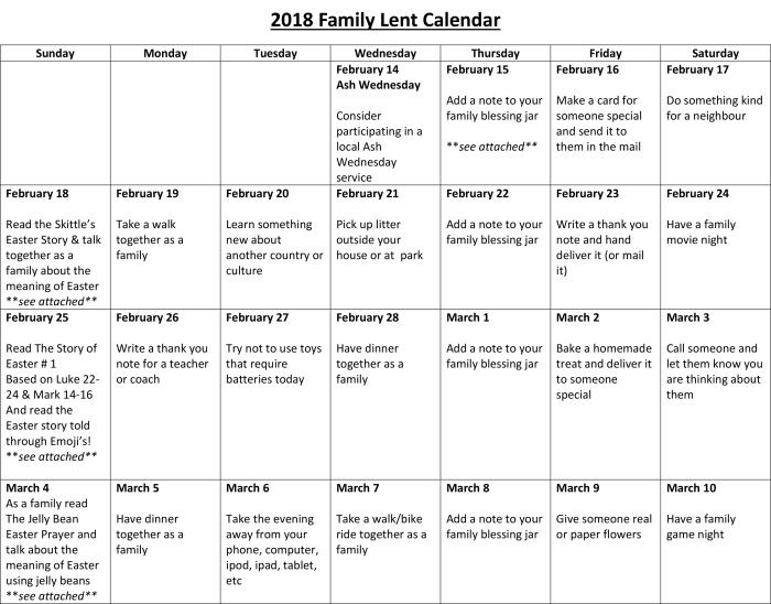 2018 Family Lent Calendar-1